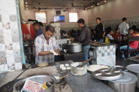 making chapatis